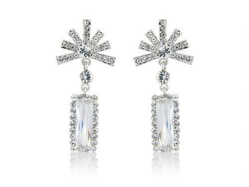 Swarovski crystal bridal earrings, wedding earrings